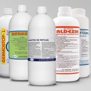 Dezinfectanti, detergenti, antiseptice, insecticide